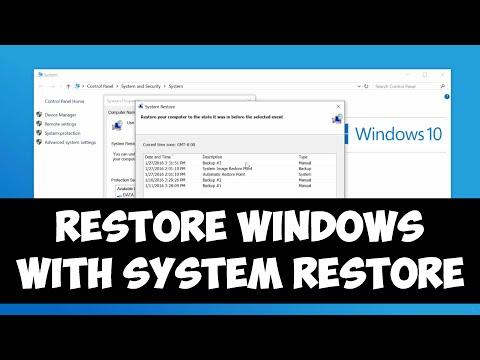 Restore Windows with System Restore on Windows 8/10
