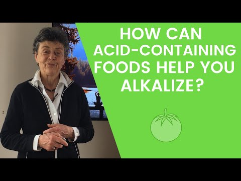 How can acid-containing foods help you alkalize?