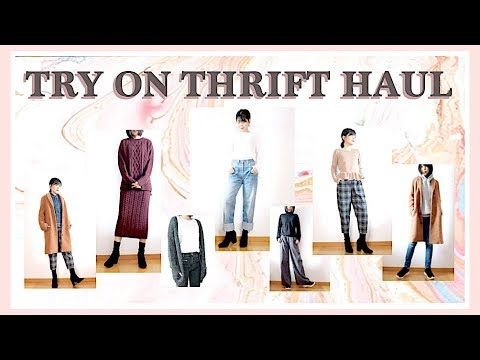 TRY ON THRIFT HAUL 2018ㅣmadebyaya