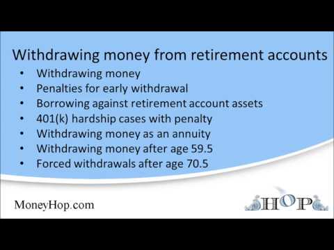 Withdrawing money from retirement accounts