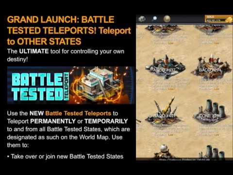 Mobile Strike BATTLE TESTED TELEPORTS ARE HERE!! SUPER ALLIANCE?