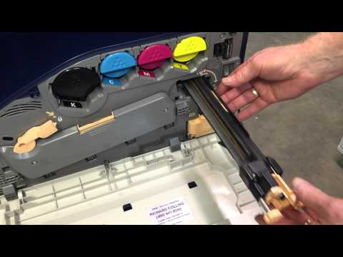 Replace Xerox Workcentre transfer belt cleaner 7425, 7428, 7435, 7525, 7530, 7535, 7545, 7556