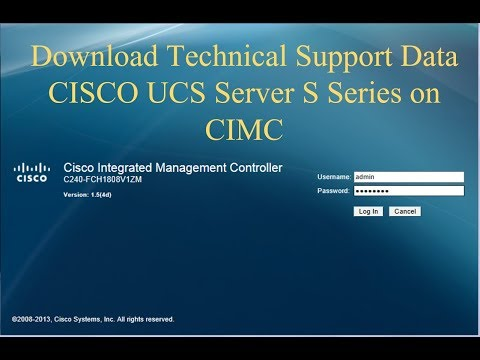 Quickly download Technical Support Data in CISCO UCS