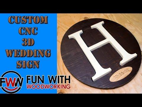 Custom 3D wedding sign board