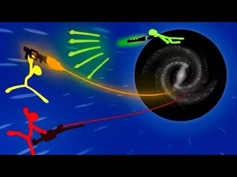 Snake Shotguns and BLACK HOLE Super Weapons!  (Stick Fight Multiplayer Gameplay New Lava Update)