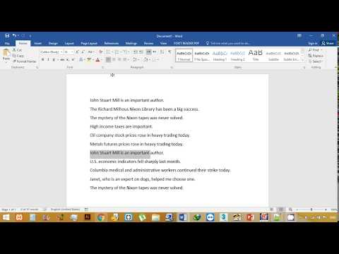 How to highlight duplicate sentences in a document in Microsoft word
