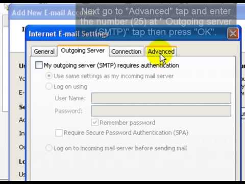 How to configure your email account with Ms outlook 2007 standard
