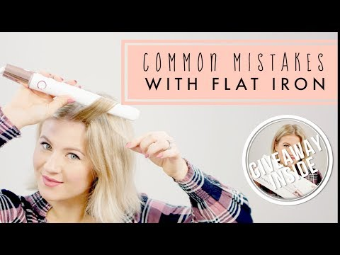 Common Mistakes With A Flat Iron | Milabu