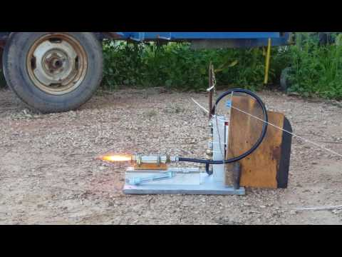 First Test of DIY Homemade PP/O2 Hybrid Rocket Engine
