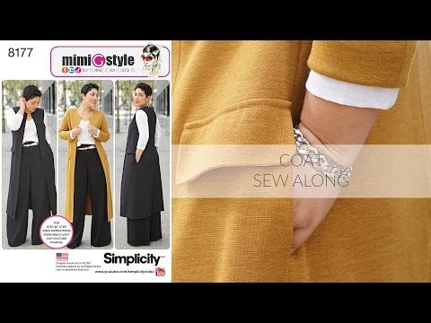 How to Sew a Long Coat or Vest with Mimi G Simplicity Pattern 8177