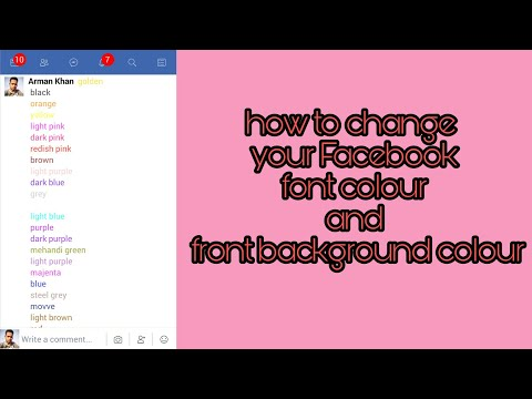 How to change Facebook font colour and font background colour