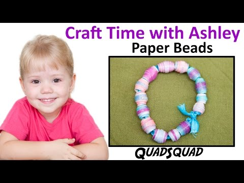 Easy Paper Bead Bracelet for Kids - Craft Time with Ashley