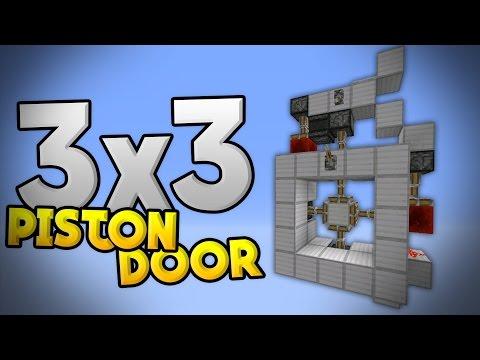 3x3 PISTON CROSS DOOR TUTORIAL - Redstone Door in MCPE 0.15.0 - Minecraft PE (Pocket Edition)