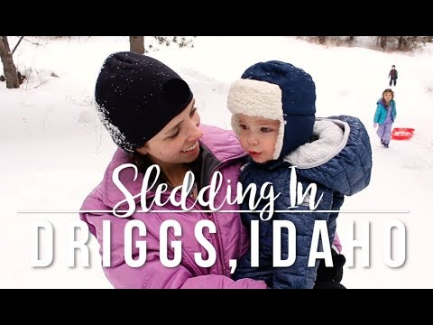 Snow Day in Driggs, Idaho // Travel Vlog