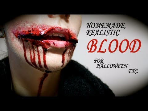 Realistic, Homemade BLOOD for Halloween..... that sets!!