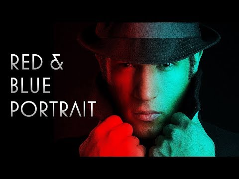 Photoshop: How to Create a Dramatic Red / Blue Face Portrait