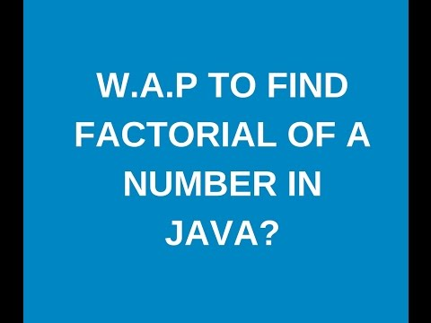 Write a java program to find factorial of a number recursion