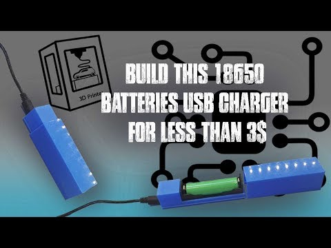 How to build a 18650 battery charger for less than 3$ DIY tutorial (TP4056) (3D printing series)