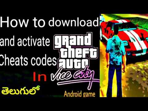 How to Download & Activate cheat codes In GTA vice city || Android game ||Telugu tech videos||తెలుగు
