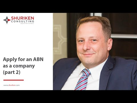 ABN Series: How To Apply As A Company? PART 2