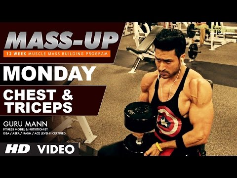 MASS UP- MONDAY  | Chest & Triceps  | Designed & Created by Guru Mann