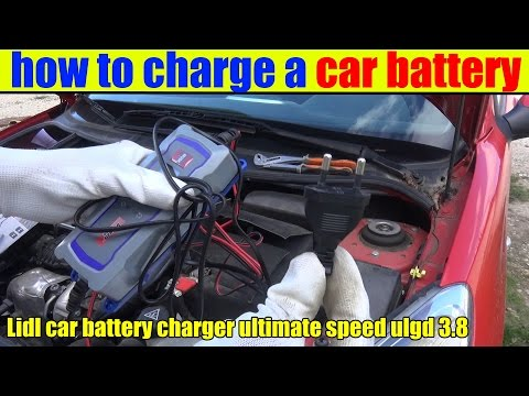 how to charge a car battery Lidl car battery charger ultimate speed ulgd 3.8