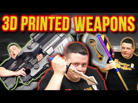 Life Size 3D Printed Weapons Collection That Will Blow Your Mind