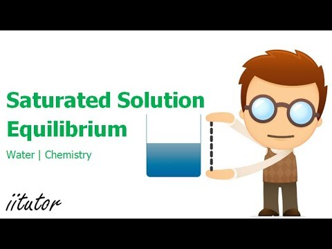 √ Saturated Solution and Equilibrium  | Water | iitutor