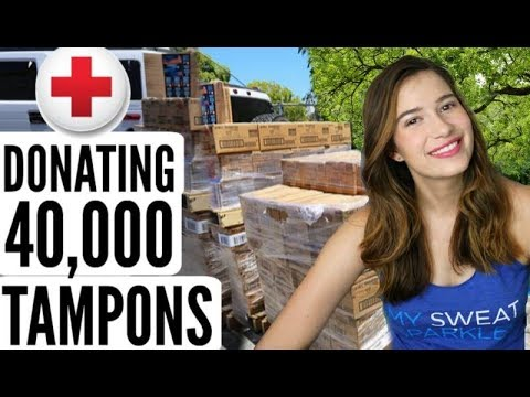 Donating 40,000 Tampons to Charity!