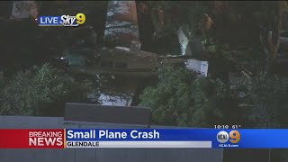 Small Plane Crashes In Glendale, 2 Onboard Walk Without Injury