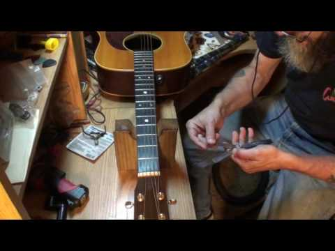 Guitar nut adjustment Nut/First fret action made easy by Randy Schartiger