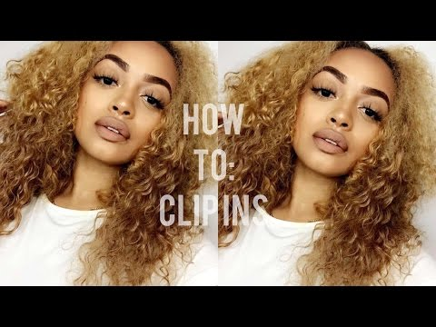 HOW I MADE MY CLIP IN CURLY HAIR EXTENSIONS