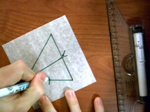 Medians in a Triangle with Patty Paper