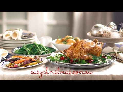 Fast Ed's Easy Christmas Roast Chicken with Cherry-Pistachio Stuffing