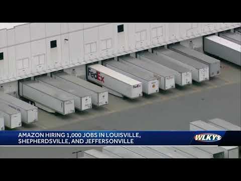Amazon hiring 1,000 jobs in Louisville, Shepherdsville, Jeffersonville