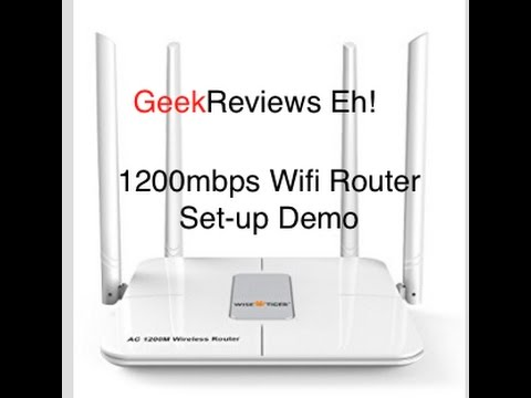 Wi-Fi Router AC 1200Mbps Dual Band 5GHZ/2.4GHZ Setup