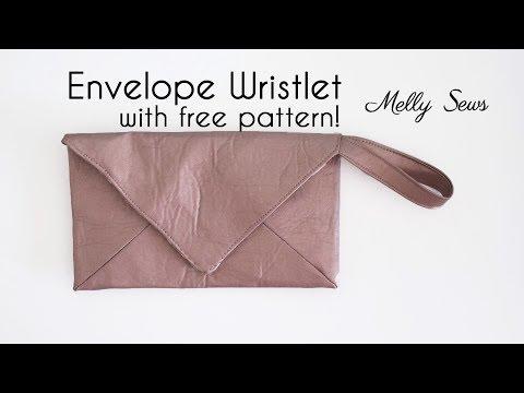 Sew a Wristlet - Envelope Clutch with Free Pattern
