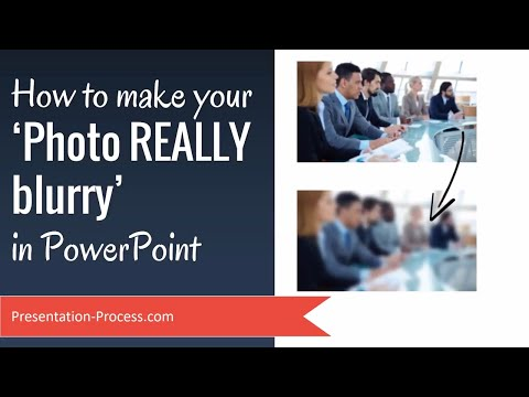How to make your Photo REALLY Blurry in PowerPoint