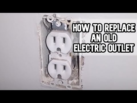 How to replace an old electric outlet DIY video