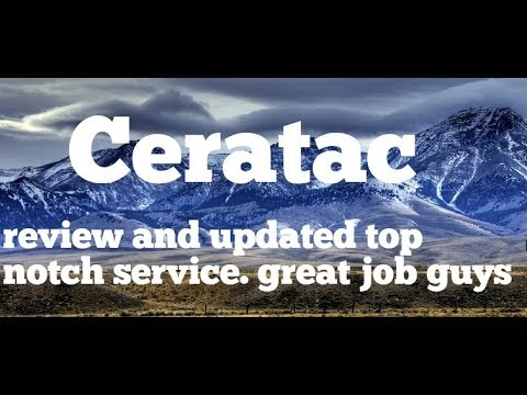 Ceratac update on problems. Their customer service just jumped up a notch. Kudos