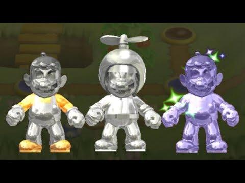 New Super Mario Bros Wii - All Metal Mario Power-Ups
