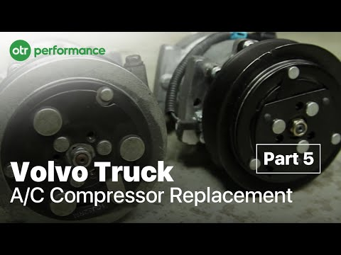 Volvo Truck AC Compressor Replacement | Volvo Truck VED12 VED16 | A/C Part 5 | OTR Performance