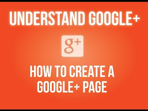 How to create a Google+ page?