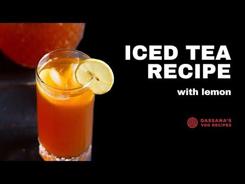 lemon iced tea recipe, how to make lemon ice tea, easy lemon iced tea recipe
