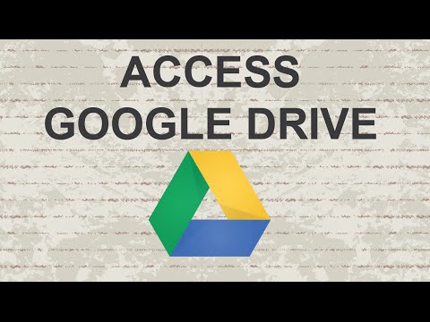 How to access Google Drive