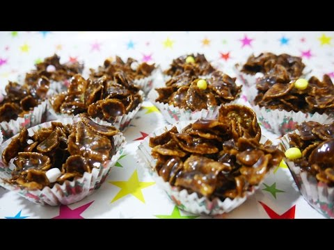 BEST QUICK EASY CHOCOLATE CORNFLAKES - RICE CRISPIES EVER! Method in description.
