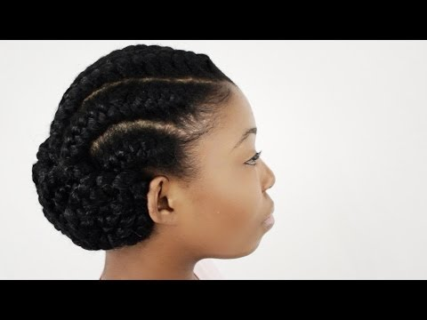 Goddess Braids on Natural Hair Finished Hairstyle Tutorial Part 4