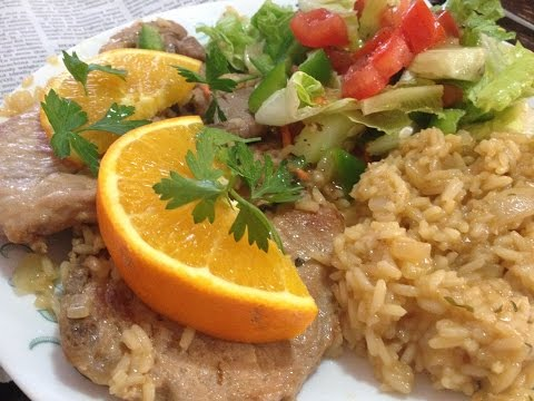 Orange Pork  Chops And Rice Made Simple Easy Making it the Perfect Meal