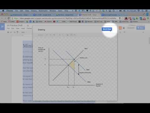 Drawing Economics Diagrams in Google Docs