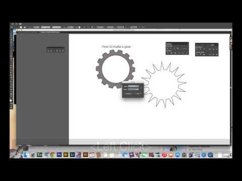 Adobe Illustrator CS   How to make a Gear